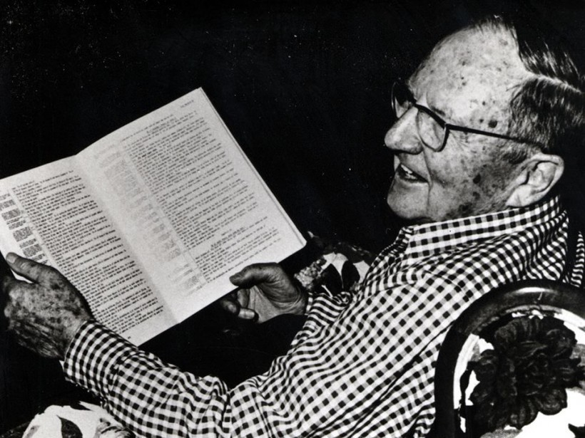 We love this picture of Wycliffe's founder, Uncle Cam, as he treasures another Scripture translation.