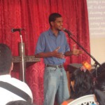 Sharing a testimony at a local church   – Suriname 2010